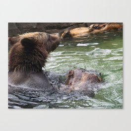 A Great Day to Play in the Water with a LOG Canvas Print