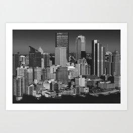 Pittsburg Skyline Art Print