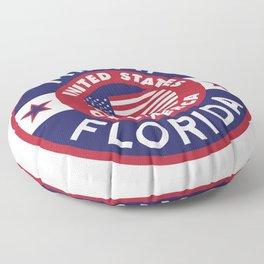 Florida, MIAMI Floor Pillow