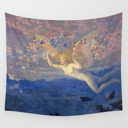 "Edward Robert Hughes (1851-1914) ""Wings of the Morning"" Wall Tapestry"