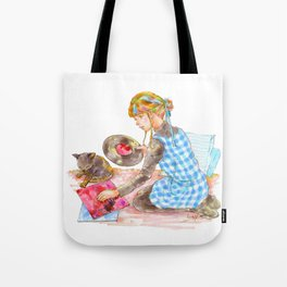 A girl with a kitten vol.2 Tote Bag
