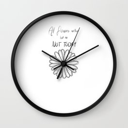 Not Today | BTS Wall Clock
