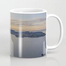 Sunset in Gothenburg drone photo Coffee Mug