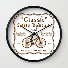 Classic Safety Bicycles Wall Clock