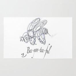 OLena Art Tee Design Bee-yoo-tee-ful Drawing Rug