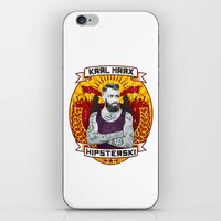 marx iPhone & iPod Skins featuring Karl Marx Hipster by Ferguccio
