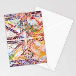 Abstract Starburst Tile Stationery Cards