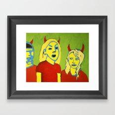 THE DEVILS Framed Art Print
