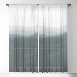 mountain horizon 3 Sheer Curtain