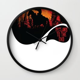 Outlaws To The End- Red Dead Redemption 2 Wall Clock