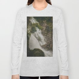 The Waterfalls of Nepal 001 Long Sleeve T-shirt