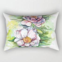 Cherry flowers watercolour Rectangular Pillow