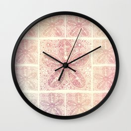 Vintage Boho Lace Flower Wall Clock