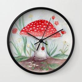 Wild Mushroom Wall Clock
