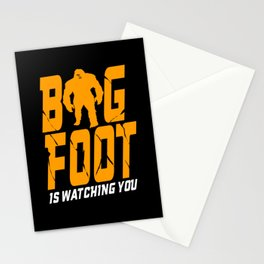 Bigfoot Watching You Mythical Beast Yeti Stationery Cards