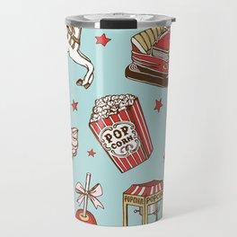 carnival pattern on blue Travel Mug