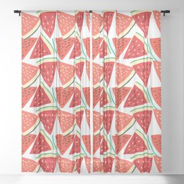 Sliced Watermelon Sheer Curtain