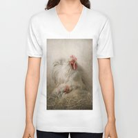 valentine V-neck T-shirts featuring Valentine by Pauline Fowler ( Polly470 )