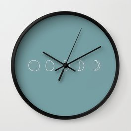 Vintage Blue Moon Phase Wall Clock