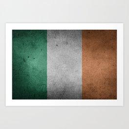 Irish Flag Grunge Art Print