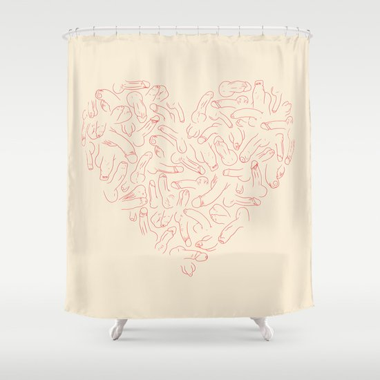 penis heart shower curtainprepuce | society6