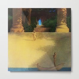 'Prince Abig' or 'The Story of the King's Son' by Maxfield Parrish Metal Print