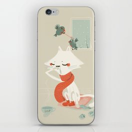 Running nose iPhone Skin
