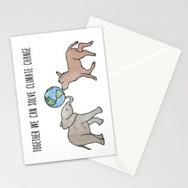 Together We Can Solve Climate Change Stationery Cards