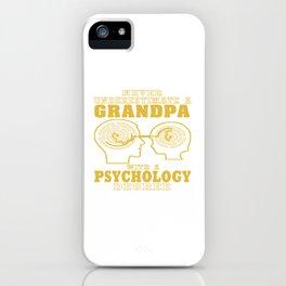 Psychology Grandpa iPhone Case