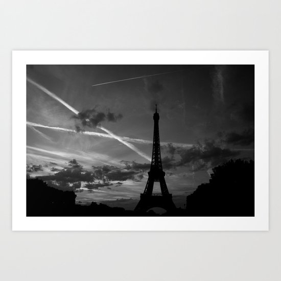 Parisian Sunset Art Print