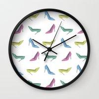 heels Wall Clocks featuring high heels by Anastasiya Zhulina