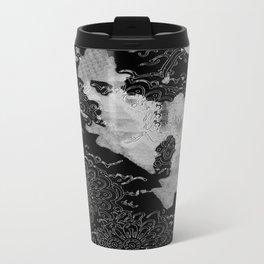 Swimming Glyphs and Sunflowers Travel Mug