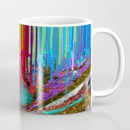 Peacock Mermaid SUNSET Abstract Geometric Coffee Mug