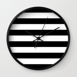 Abstract Black and White Stripe Lines 6 Wall Clock