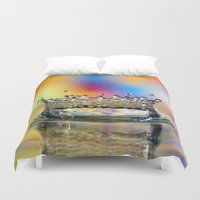 crown Duvet Covers featuring Colorful Crown by ThePhotoGuyDarren