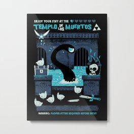 Templo de los Muertos Metal Print