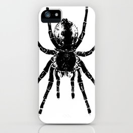 Scary Tarantula Spider Halloween Black Arachnid iPhone Case