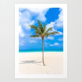Tropical Island, Palm Tree Art Print