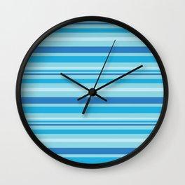 Bright Blue Hues Wall Clock