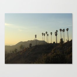Los Angeles, Hollywood sign Canvas Print