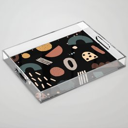 Geo Shapes Luxe Acrylic Tray