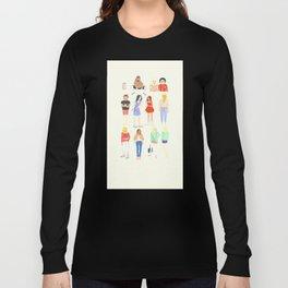 Technicolor folks Long Sleeve T-shirt