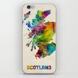 Scotland Watercolor Map iPhone Skin
