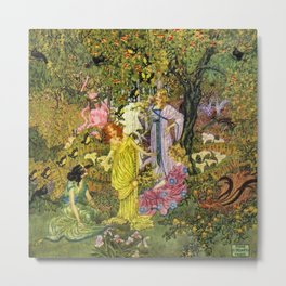 In the Magical Garden of Paradise by Dugald Stewart Walker Metal Print