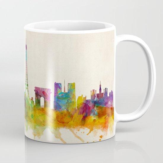 Paris Skyline Watercolor Mug