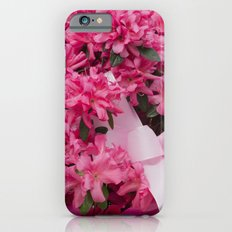 pink flower for holidays Slim Case iPhone 6s