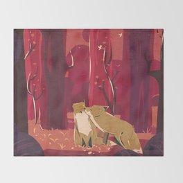 Forest Love Throw Blanket