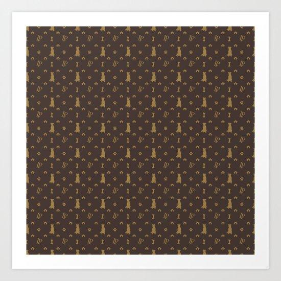 Louis Pitbull Luxury Dog Bling Pattern by podartist