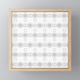 Circles and Squares Framed Mini Art Print