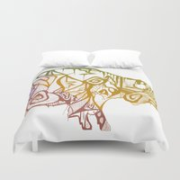 bison Duvet Covers featuring Bison. by Stefani Reeder